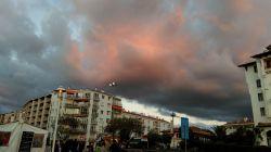 Reflected sunset France