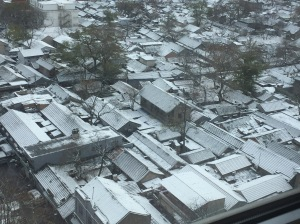Maxian Hutong behind my hotel at Chongwenmen, after an overnight snowfall in November 2016